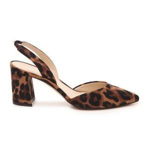 Marc Fisher Cup 3 Block Heels Leopard Pointed Toe